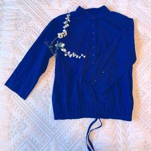 Navy Blue GAP Cotton Blouse